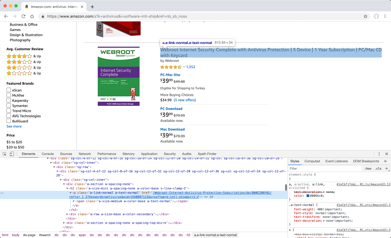 Definining manual post item value for Amazon - Elements